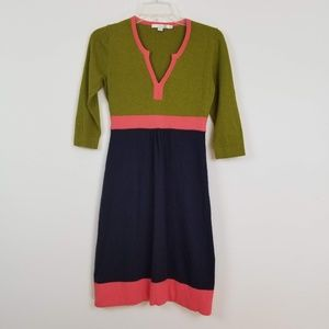 BODEN COLOR-BLOCK CASHMERE COTTON sweater Dress